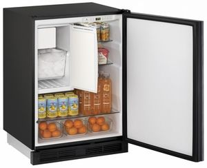 Combination Undercounter Refrigerator/Freezer with Ice Maker (Crescent  Shape) for Coffee Bar (C…   Compact refrigerator, Built in refrigerator, Refrigerator  freezer