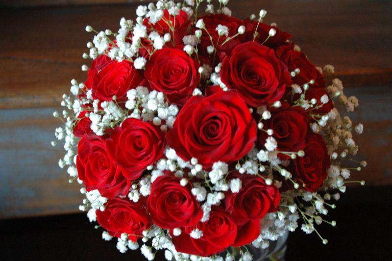 rosas y coronita de novia