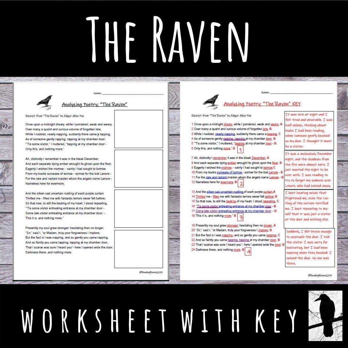 Yze The Poem The Raven By Edgar Allen Poe