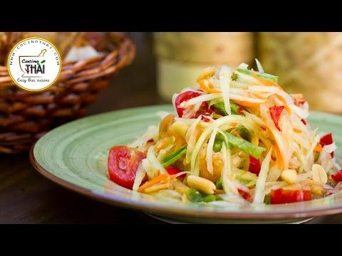 Exceptional Som Tam (auténtica Ensalada De Papaya Verde Tailandesa) | Cocino Thai