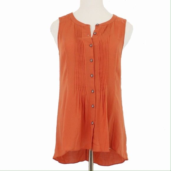 Soft Sleeveless Button Down Blouse Super soft and lightweight button down blouse from Edme and Esyllte. Very comfortable. Offers always welcome! Anthropologie Tops Button Down Shirts