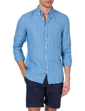 Stilig skjorte fra J. Lindeberg - DANI BD LIN-MELANGE SKJORTE, Aqua Blue