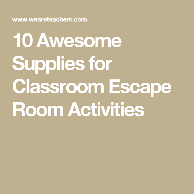db467d5674f5 10 Awesome Supplies for Classroom Escape Room Activities Breakout Edu
