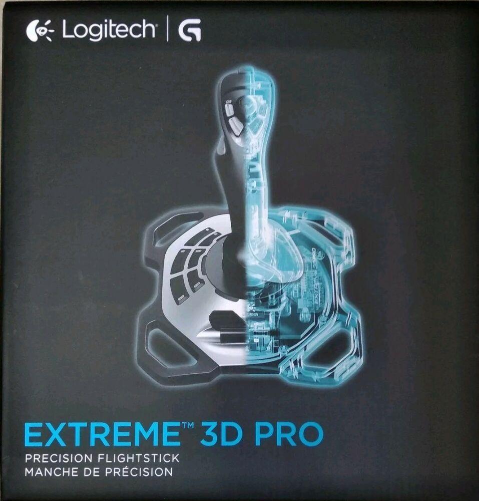 3b843b8f582 New Logitech Extreme 3D Pro Joystick USB Flight Stick Games Controller PC  WIN 8