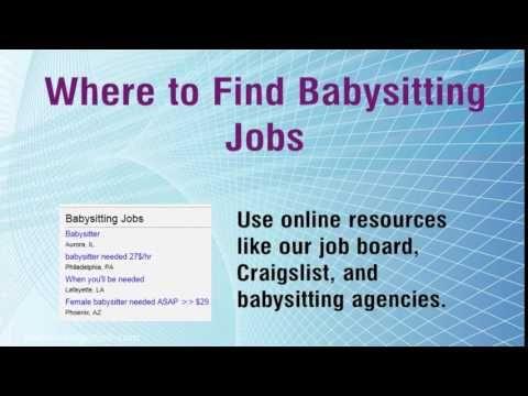 Http Www Parttimenightjob Com Babysitting Jobs Html Visit Us To