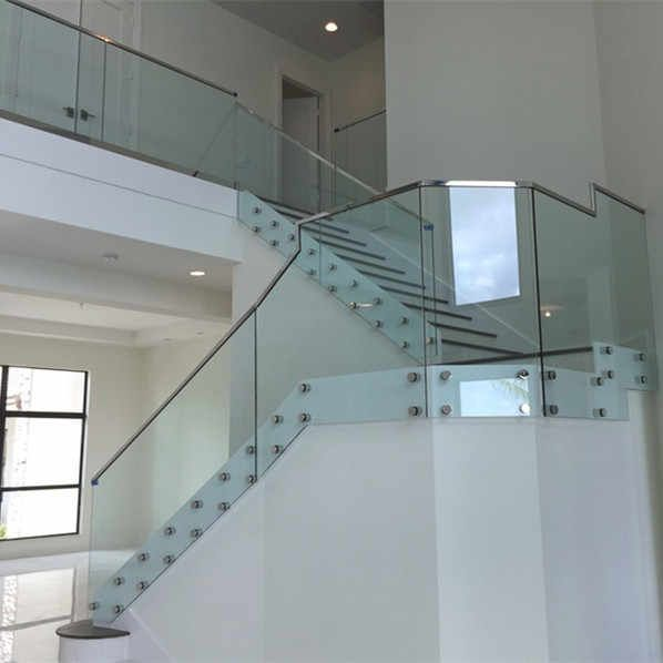 Best Source Frameless Glass Stair Railing Cheap Price Standoff 640 x 480