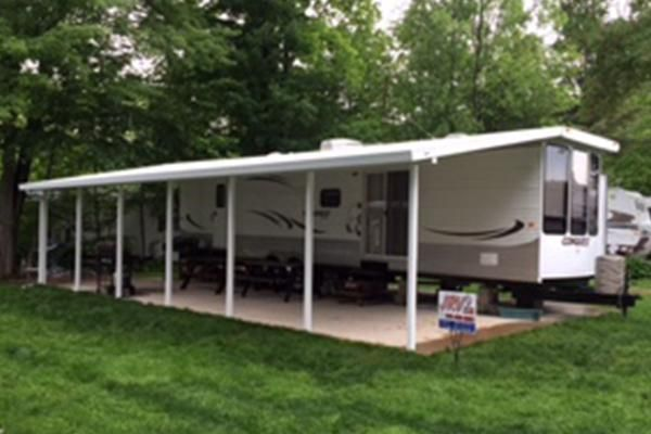 SnapLock JRV4 | Rv carports, Park model rv, Aluminum awnings