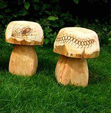 Mushroom Seating Garden Sculpture Wooden
