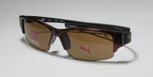 11d9c297c0d5 AUTHENTIC PUMA 15122P SWING REDDISH BROWN/BLACK COLOR FRAME WITH POLARIZED  LENSES SUNGLASSES/SHADES/SUNNIES/SUN GLASSES - mens/womens/unisex