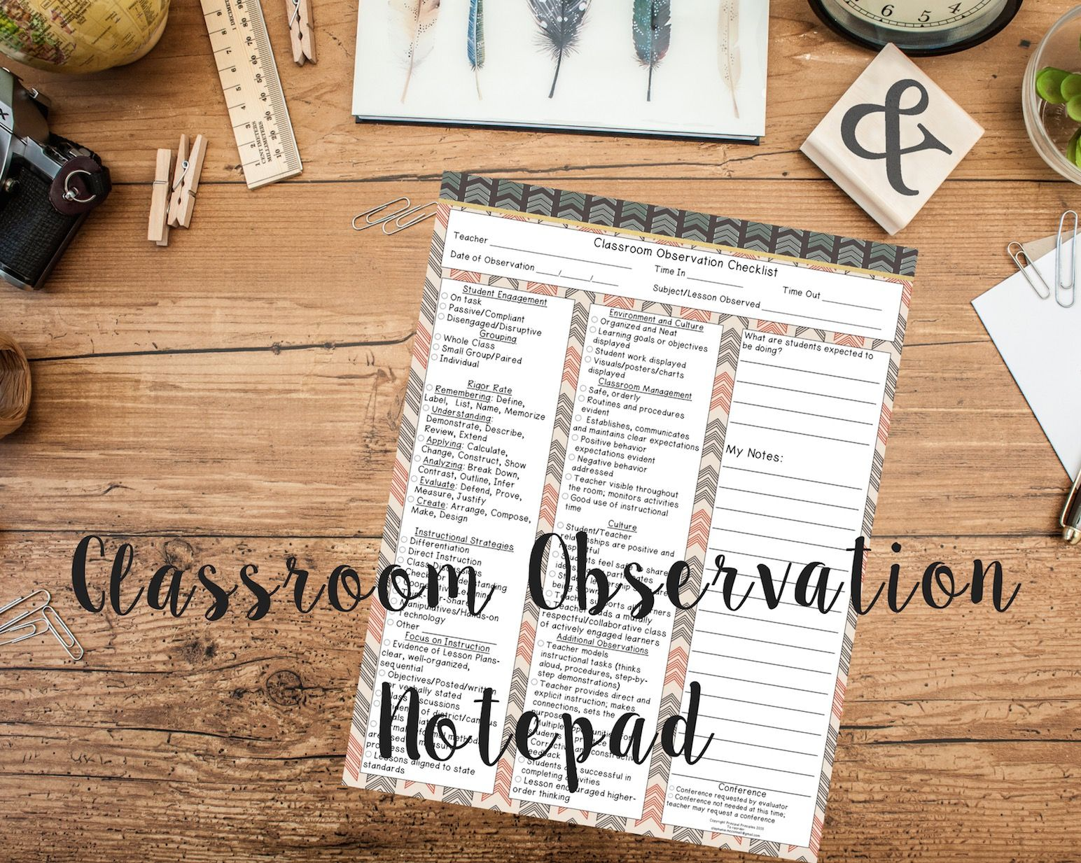 classroom observation notepad for principals assistant principals classroom observation notepad for principals assistant principals instructional coaches no more legal pads