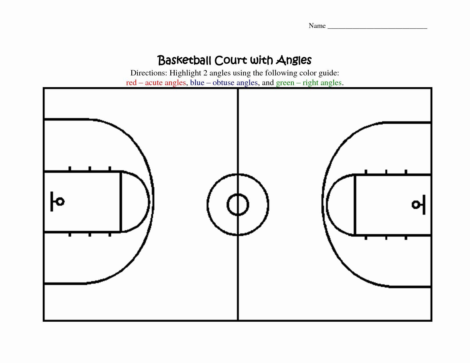 Basketball Court Design Template Elegant Best S Of ...