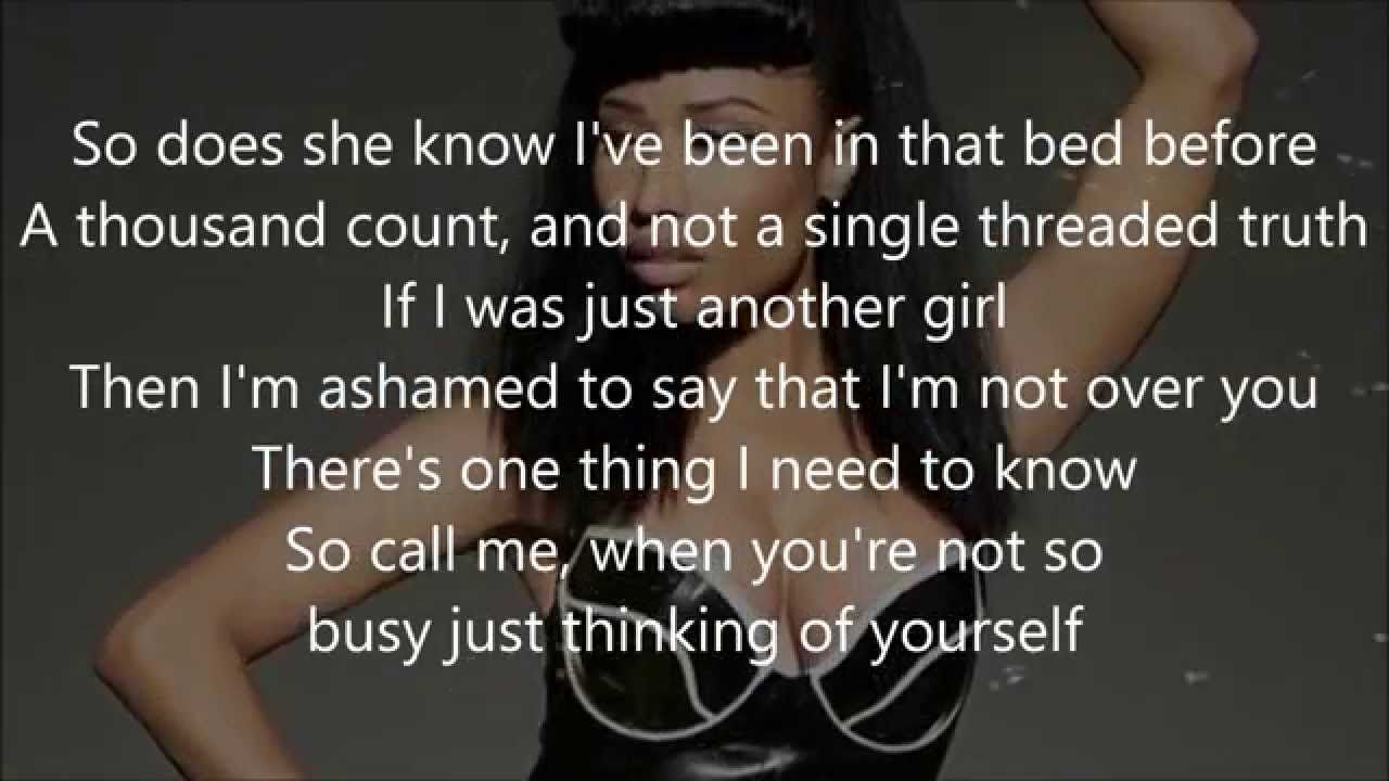 Bed Of Lies Nicki Minaj Ft Skylar Grey Lyrics I Need To Know