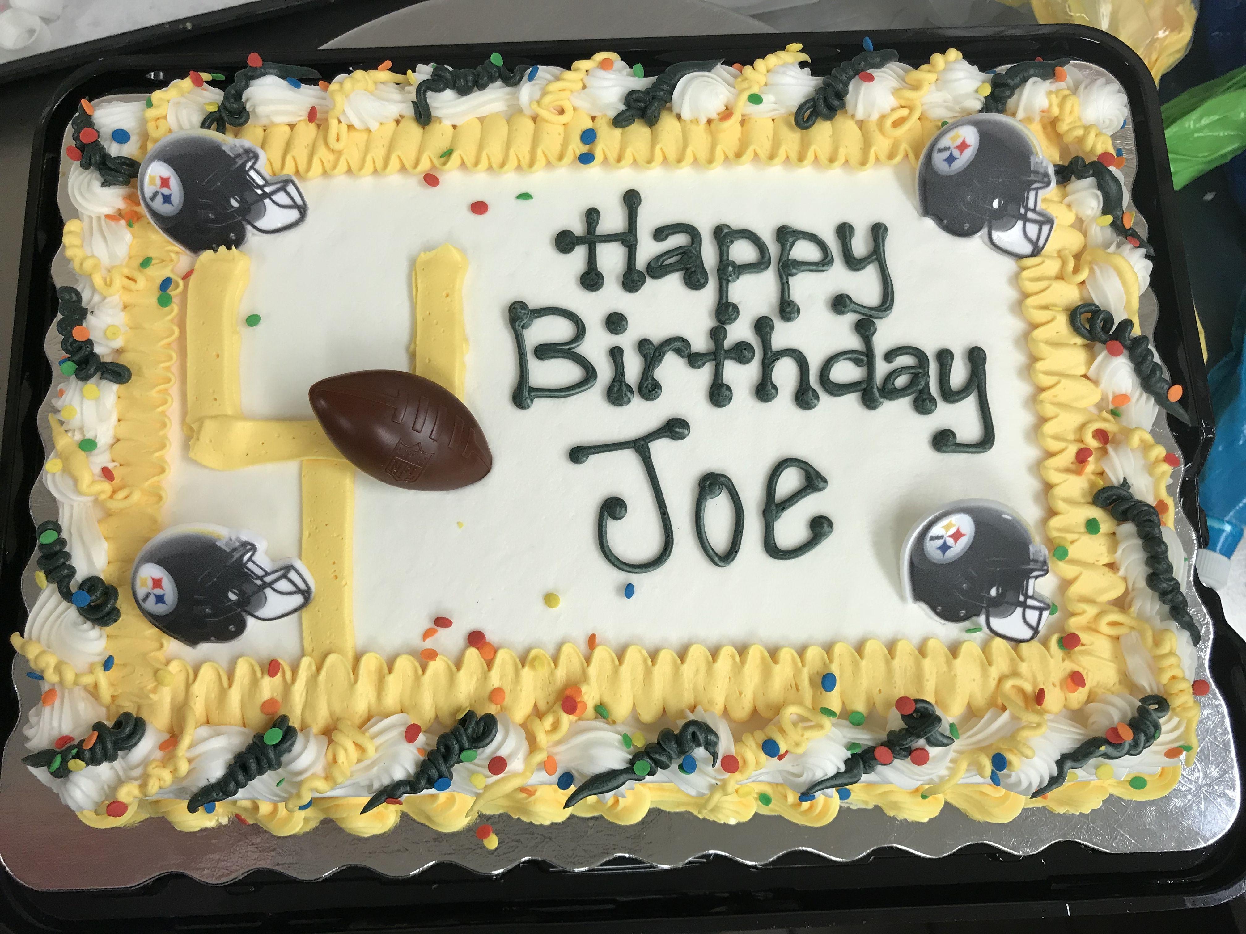 Phenomenal Steelers Themed Birthday Cake Sheet Cake Designs Cake Themed Personalised Birthday Cards Epsylily Jamesorg