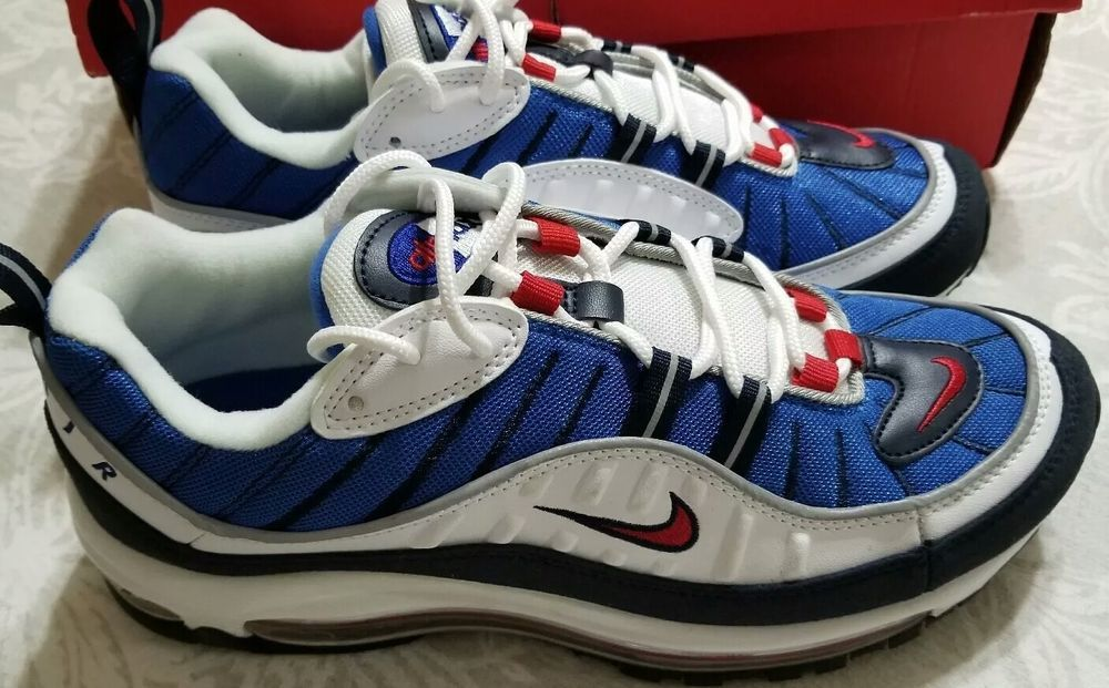 separation shoes 27f2c d0c93 Nike Air Max 98 Gundam WHITEUNIVERSITY RED-OBSIDIAN 640744-100 Size 7.5  fashion clothing shoes accessories mensshoes athleticshoes (ebay link)