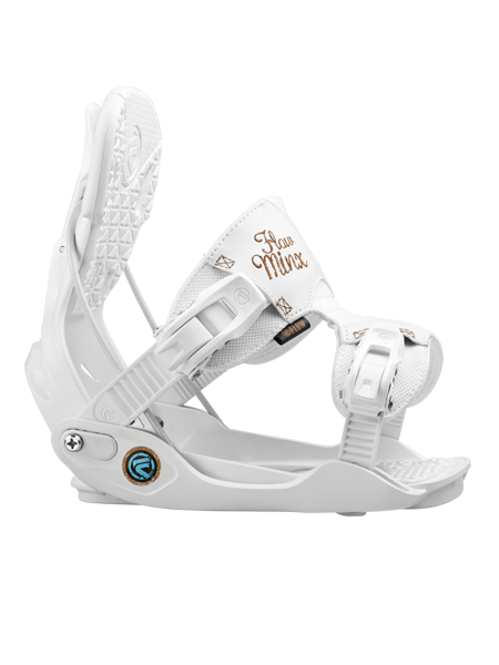The Minx Is One Of The Most Requested Women S Bindings Flow Makes Offering Women S Specific Features That Work With Snowboard Boots Snowboard Bindings Binding