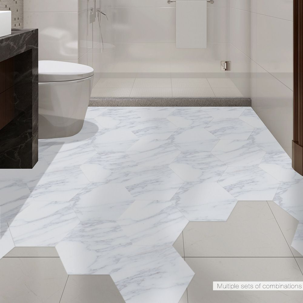 Tremendous Online Shop Funlife Waterproof Floor Sticker White Marble Home Remodeling Inspirations Basidirectenergyitoicom