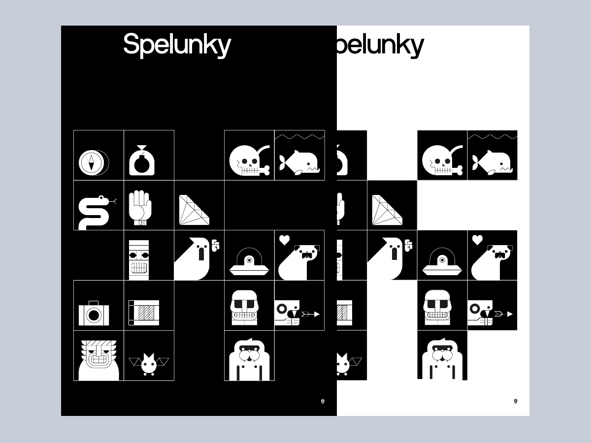 #Spelunky #Videogame #Graphicdesign #Illustration #Poster #Posterdesign #IconDesign #Iconography #Design
