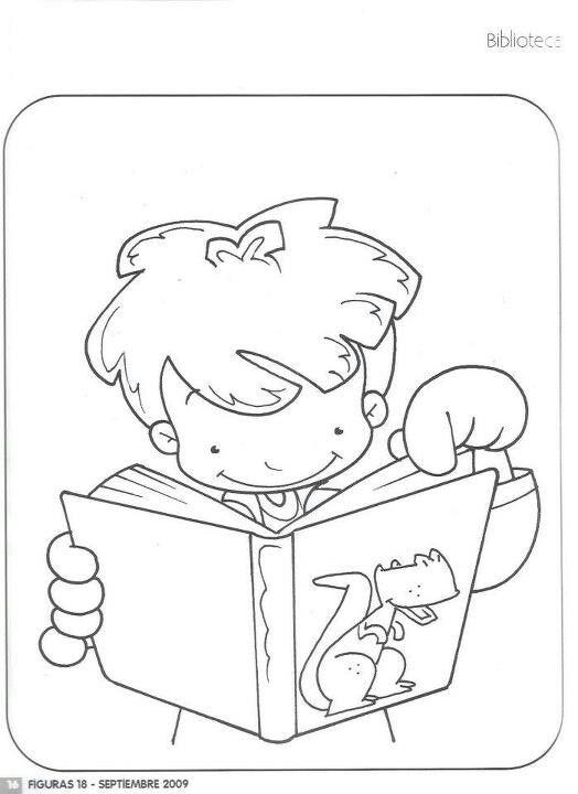 Biblioteca Ninos Escribiendo Para Colorear Libro De Colores Dibujos En Cuadricula