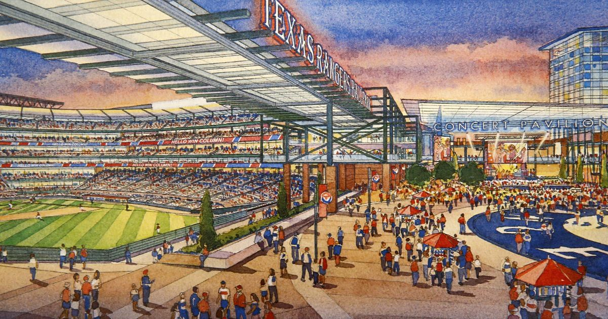 Rangers Unveil Plans For New Arlington Stadium Could Open As Early As 2021 Sportsday Texas Rangers Arlington Stadium Baseball Stadium
