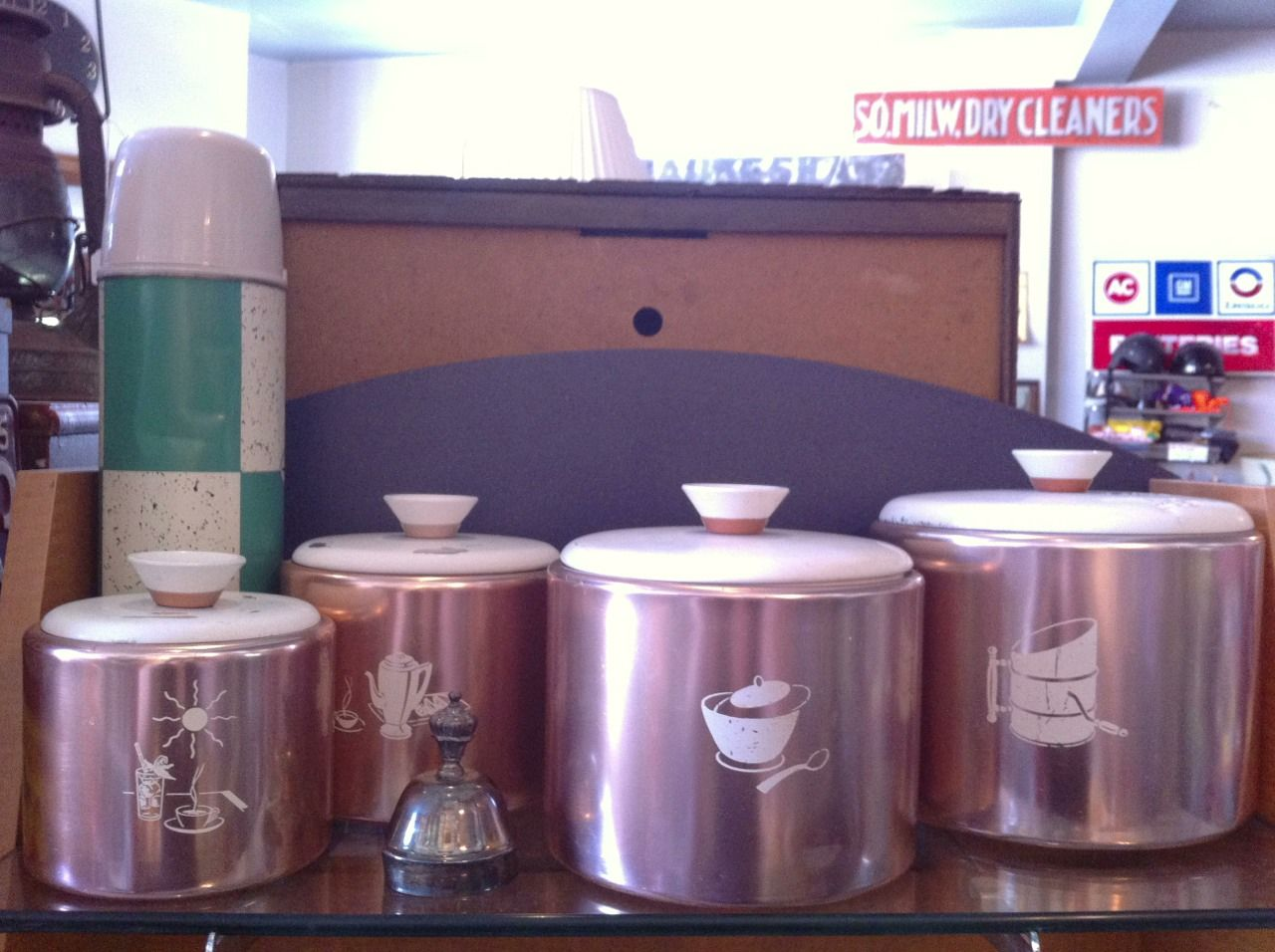 Some pretty cool looking kitchen canisters.  Great graphics.