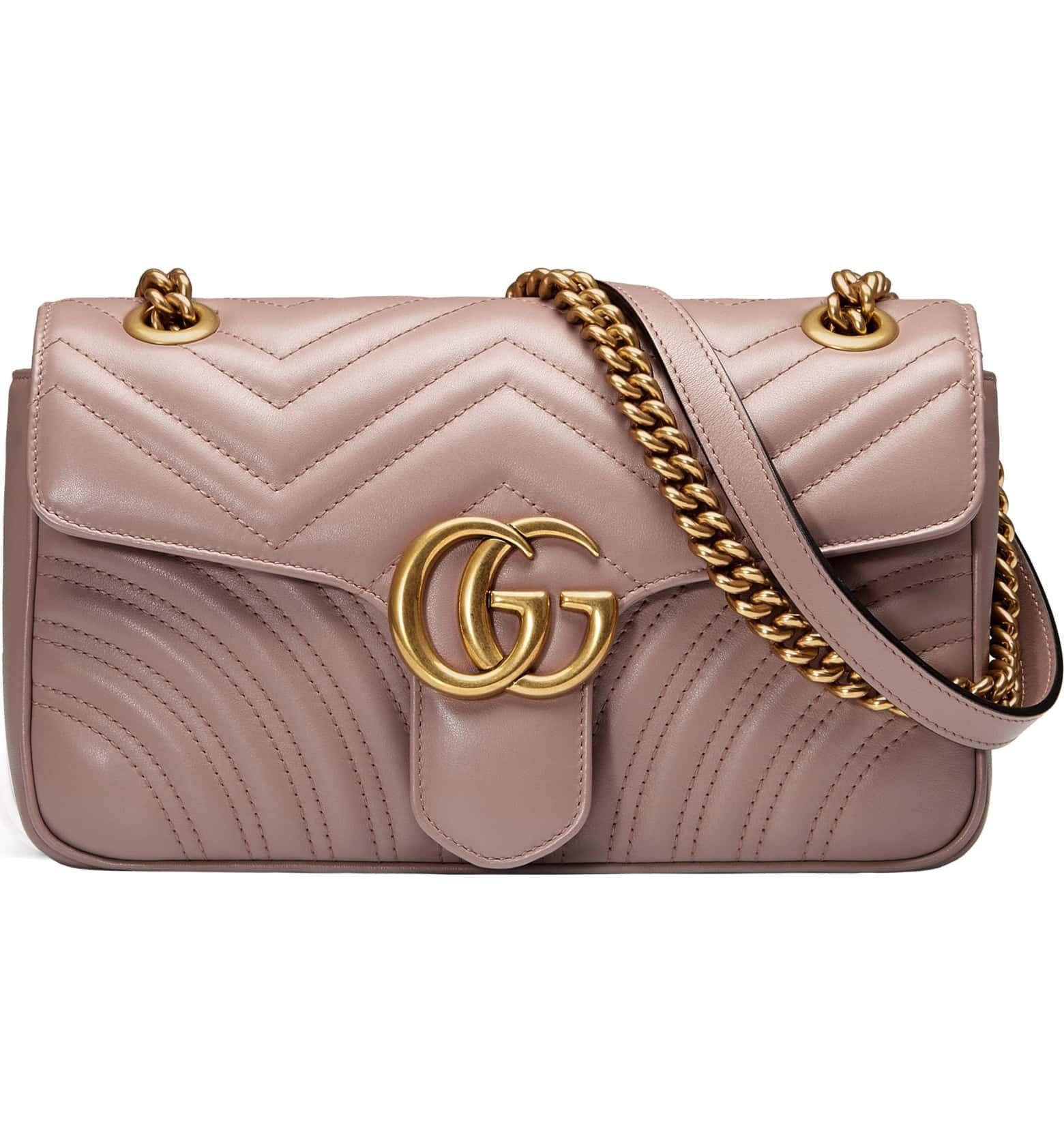15657ca2e529 Small GG Marmont 2.0 Matelassé Leather Shoulder Bag, Main, color, PORCELAIN  ROSE/ PORCELAIN ROSE