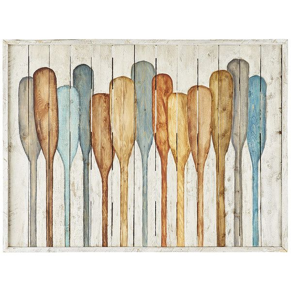 Pier 1 Imports Multi-colored Bleached Oars Wall Decor ($215) ❤ liked on Polyvore featuring home, home decor, wall art, multicolor, colorful wall art, pier 1 imports, colorful home decor, lake wall art and lake home decor