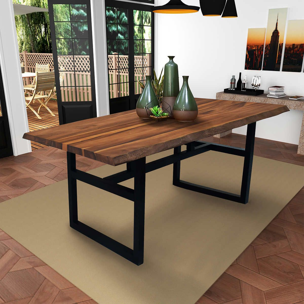 Gable Live Edge Acacia Dining Table 699 Costco Live Edge Dining