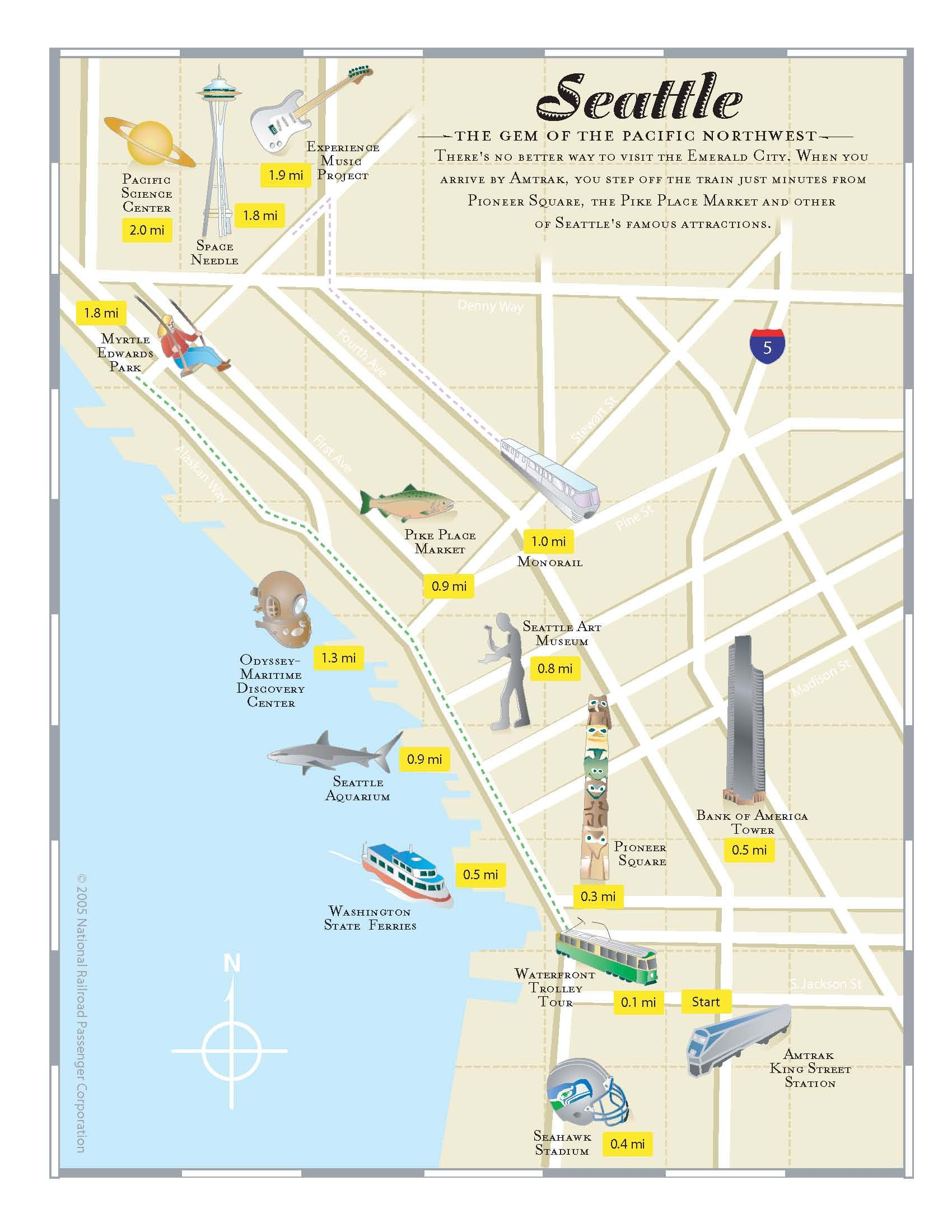 Seattle Neighborhood Guide In Relation To Amtrak Stations - Amtrak national map