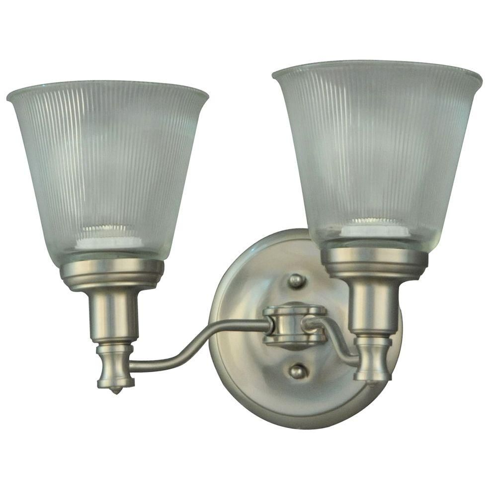 Martha Stewart Living Wayland Collection 2-Light Brushed Nickel ...