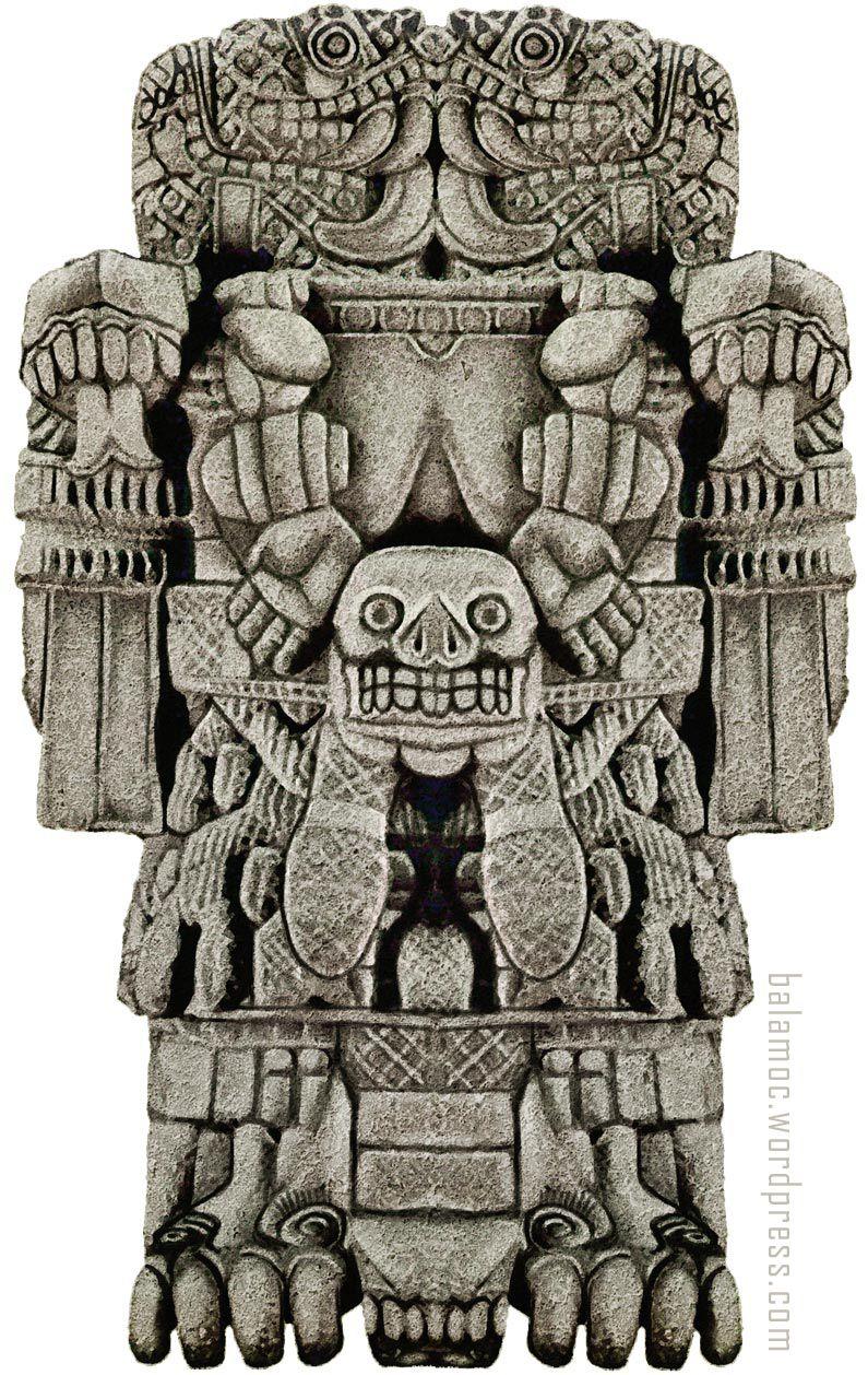 Coatlicue | Aztec art, Mayan art, Maya art