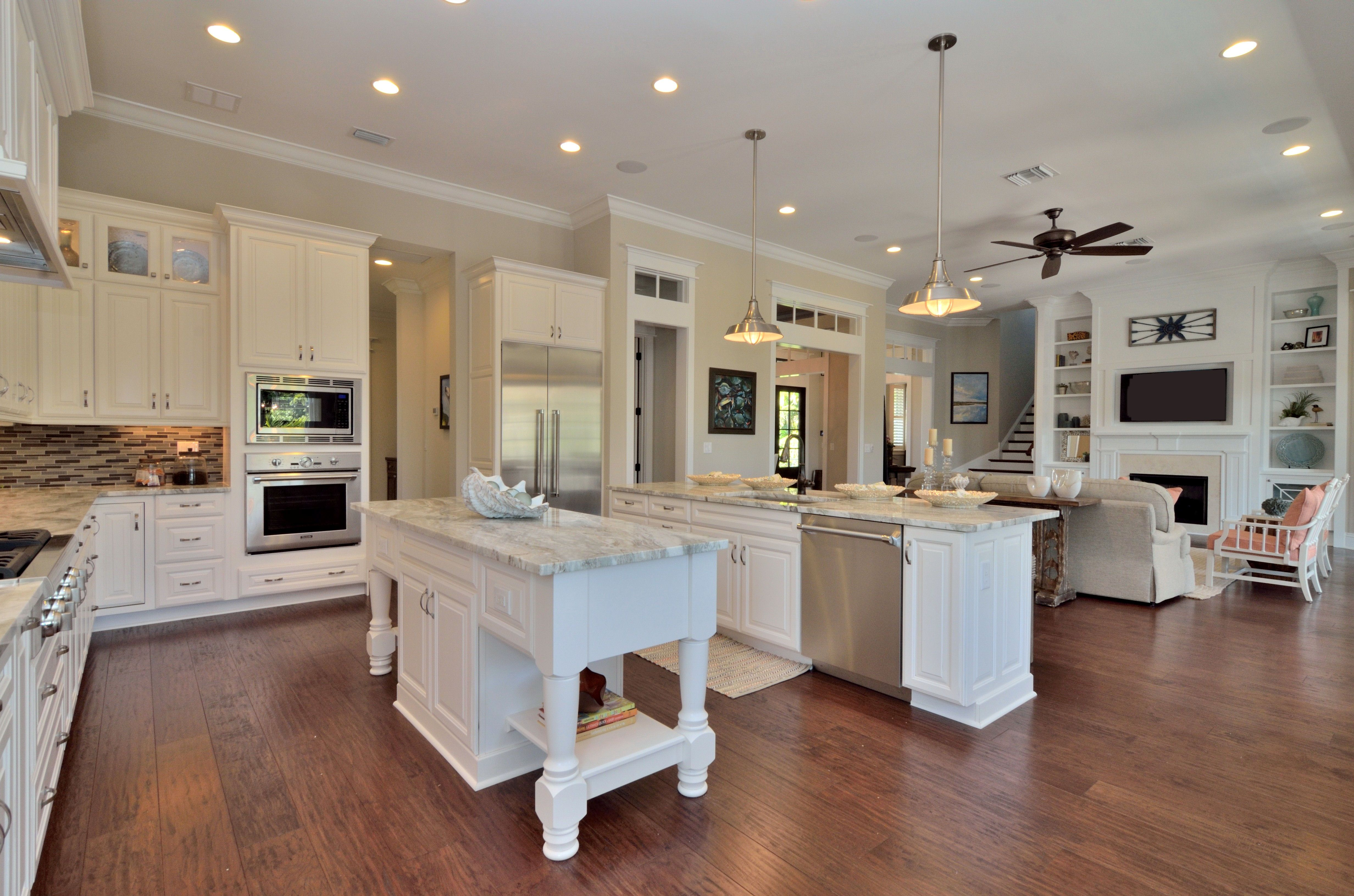 Open Floor Plan With Double Islands Thermador Kitchen Appliances Built By Javic Homes In Tampa Kitchen Floor Plans Floor Plan Design Home