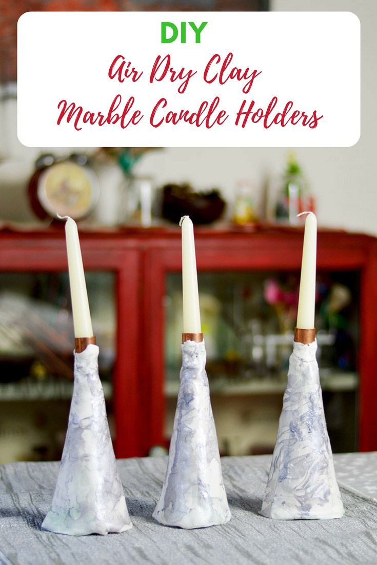 How To Make A Beautiful Air Dry Clay Candle Holder Clay