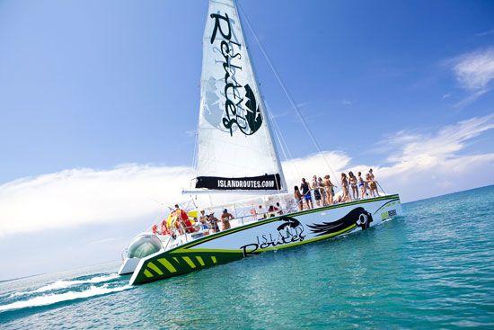 Catamaran Cruise - Negril, Jamaica - YouTube
