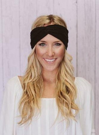32ad6966e105 Twist Turban Style Stretch Knot Headband Workout Yoga GYM Hair Band Etsy  Rare