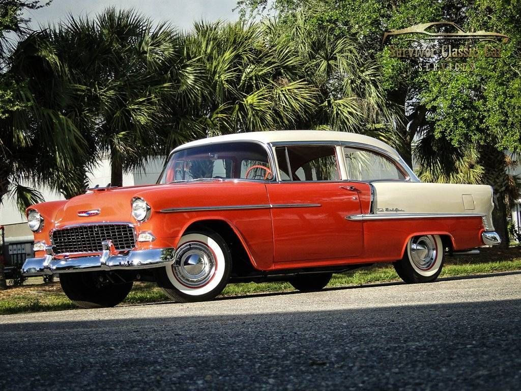 A beautifully restored 1955 Chevy Bel Air two-tone!  This beauty is absolutely s…