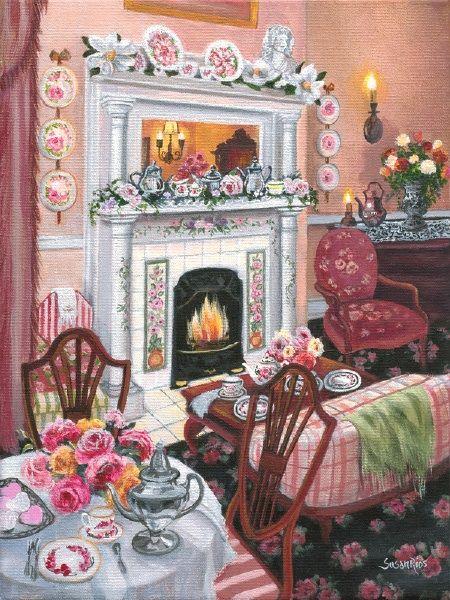 Susan Rios Keepsake Art Camellia Rose Tea Room...I CAN SO SEE ME ...