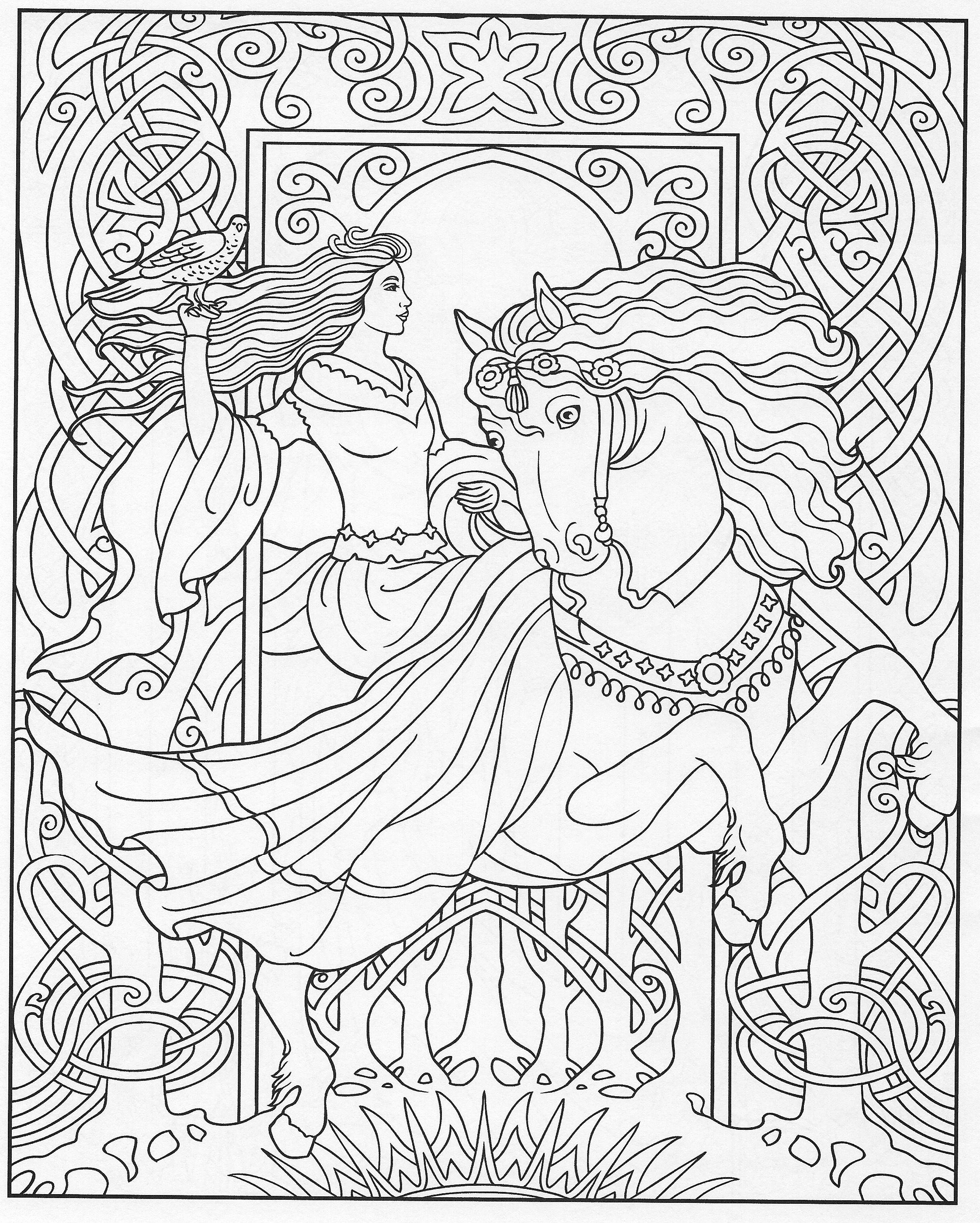 Pin de Małgorzata Kitka en Coloring pages to print - Fantasy ...