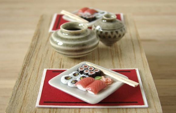 miniature sushi by Stephanie Kilgast