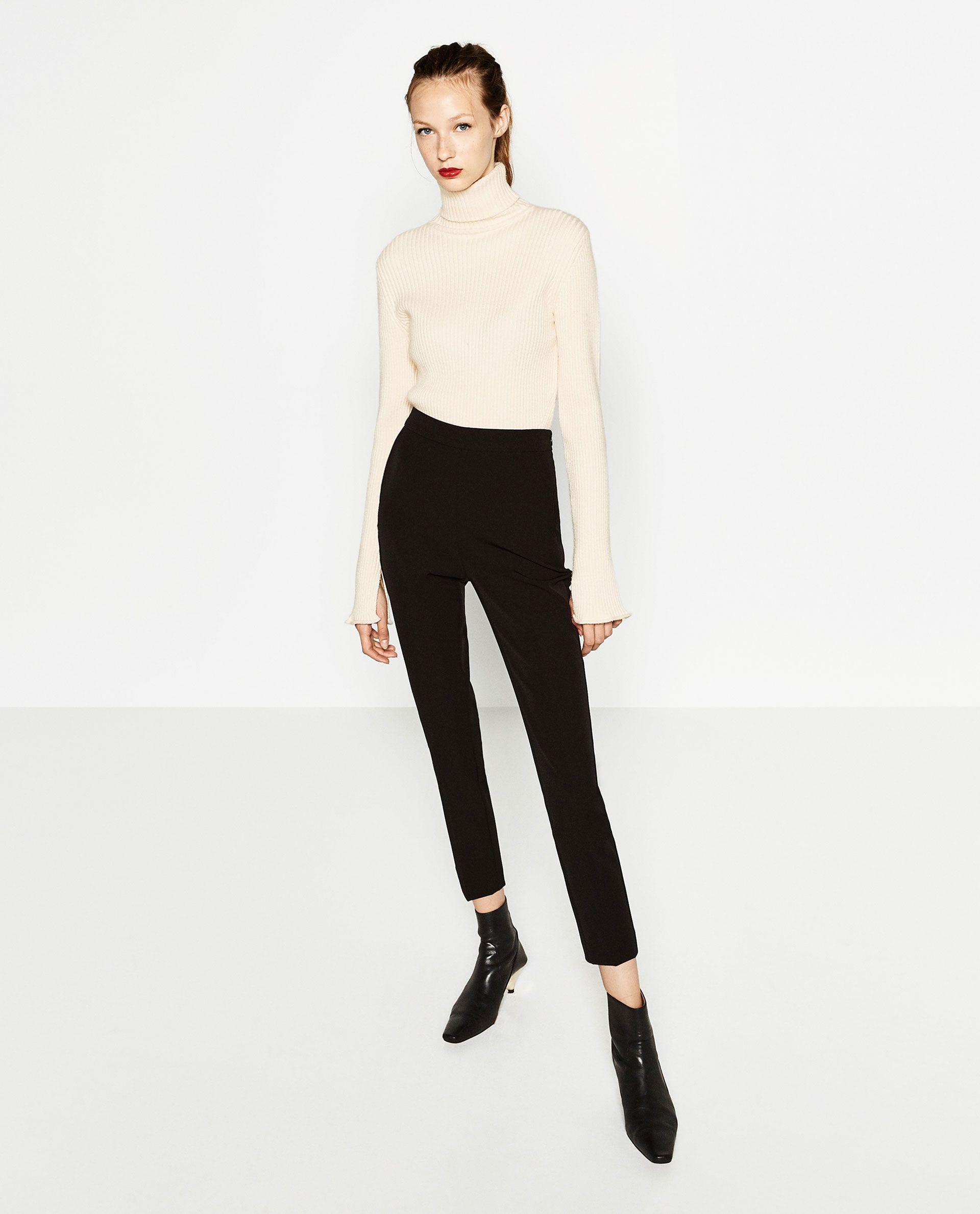 pantalones de tiro alto mujer zara