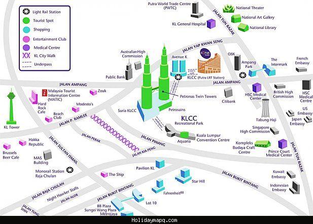 cool Map of Kuala Lumpur Tourist Holidaymapq Pinterest Kuala