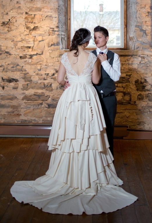Lace and Organic Cotton Wedding Dress by Janay A, Kansas City ...