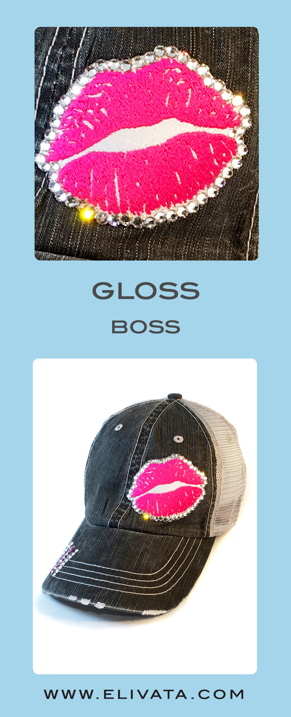 2e9960a94b4728 How did we function in society without coffee - dry shampoo & #Lipsense?  Love this #Lipboss distressed Trucker Hat