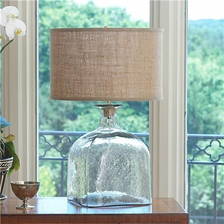 Nice Apothecary Glass Jug Table Lamp