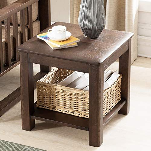 quality design e1405 ae8c9 Qing MEI Simple Modern Pure Solid Wood Bedside Table Nordic ...