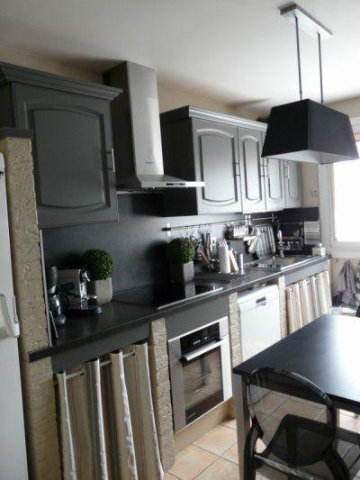 Cuisine rustique relook e kitchenette armoires and decoration - Cuisine kitchenette ...