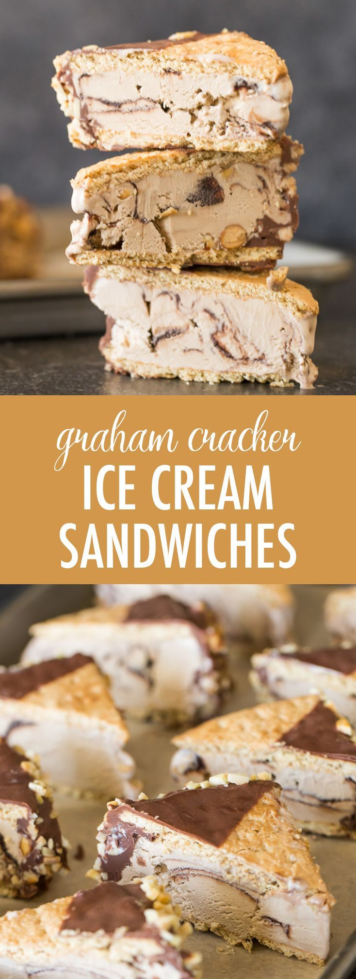 Graham Cracker Ice Cream Sandwiches - Lovely Little Kitchen #icecreamsandwich