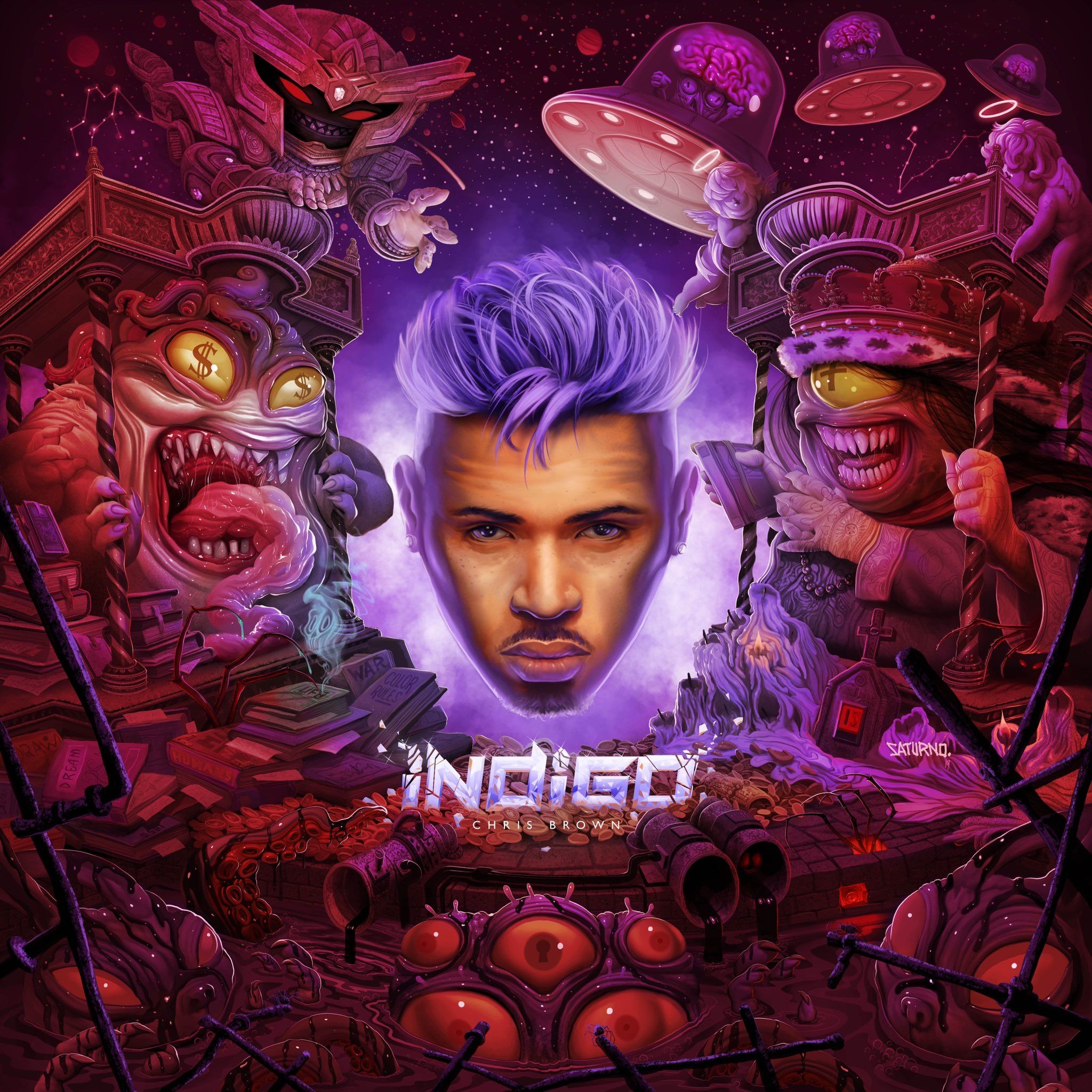 Official Album Cover For Chris Brown S 9th Studio Album Indigo With Will Hit Stores And All Digital Plat Chris Brown Wallpaper Chris Brown Albums Chris Brown