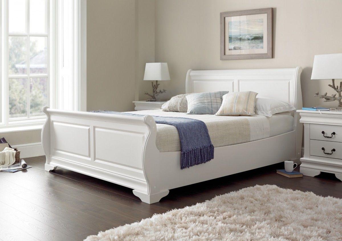 Bedroom Ideas Sleigh Bed louie sleigh bed - white | bedroom | pinterest
