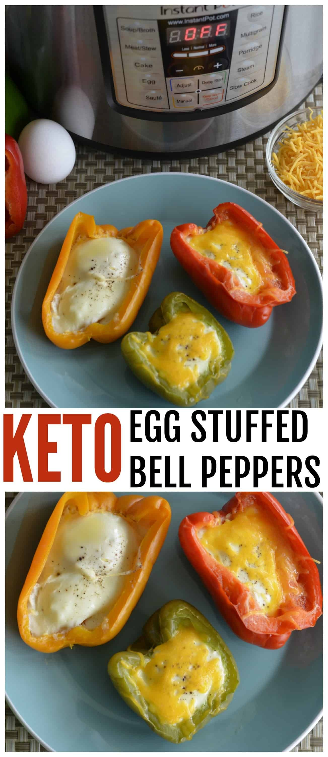 Instant Pot Low Carb Egg Stuffed Bell Peppers Stuffed Peppers Stuffed Bell Peppers Brunch Recipes