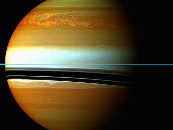 NASA spacecraft sees huge burp at Saturn after large storm. Hello lord Saturn